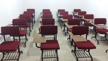 كراسي (مقاعد) منجدة - لون خمري تصلح كمقاعد لطلبة المدارس  أو مركز ثقافي أو روضه أطفال بحال الجديد