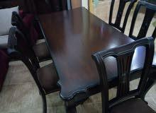طاولة سفرة 6 كراسي راقية جدا خشب صلد كامل بسعر أكثر من مغري جدا جدا