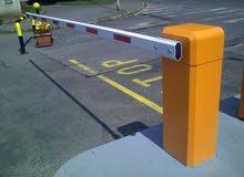 parking barrier gates of cars