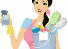 عاملات نظافة للمنازل ومكاتب وشقق يومي  شهري