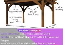Smart Wooden Pergola & shading  Dubai  Best Deals