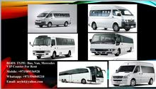 For Rent: Bus, Van, Coaster (All with Driver included)