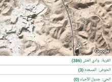 ارض للبيع 2870 متر  منطقه وادي العش حي المسعدي