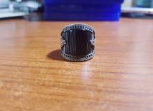 خاتم فضة مميز كبير الحجم