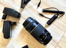 (كاميرا 750D مع عدسة 75-300 وعدسه وكاله ) نظيفة جدا سبب البيع ( التغيير)