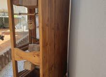 قفص خشبي لطيور الزينه والببغاوات