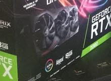 RTX 2080 A8 GB ROG Strix gaming, three fans.