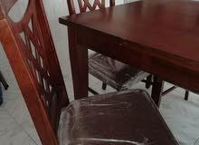 طاولة اكل سته كراسي شبه جديده سعر 950 كاش أو شيك