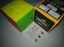 3x3x3 مكعب روبيك المحارب ستيكرليس ابيض