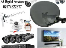 dise satellite TV receiver CCTV camera