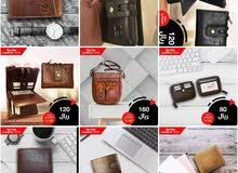 محافظ وابواك جلد طبيعي حقيقي Genuine leather wallets