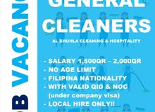 JOB VACANCY!! CLEANERS