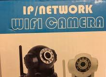 كاميرة جديد للمراقبة واي فاي و كابل شبكة  وترتبط بالموبايل