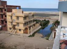 شقة للبيع بمصيف جمصة ثالث صف للبحر بحرى غربى اول بلكونة موقع ممتاذ