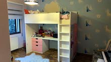 IKEA loft bed with desk (perfect condition)