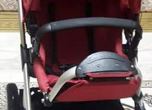 كروسة اطفال استعمال نظيف شبه جديده ومميزة اتجي كرسي سيارة وترقد وتجي هزاز بيبي و