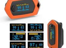 جهاز  فحص نبض القلب واشباع الاكسجين ويتم اعاده شحنهpulse oximeter