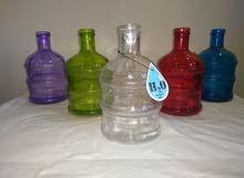 زجاجات زجاج سعة حوالى 2 لتر لكافة الاغراض للمياه و العصائر