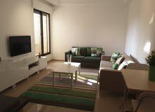 شقة للايجار في عبدون الشمالي ، تصنيف خمس نجوم ، مساحتها 110 متر مربع، الشقة مفروشة بالكامل
