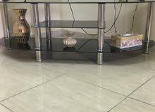 طاولة تلفزيون زجاج