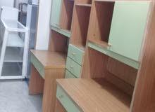 مكتبتي مع ملحقات تفصيل خشب لاتيه وزان بحال الوكاله