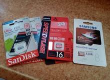 ميموريات أصلية سرعة نقل عالية GB 8- GB16 - 32GB