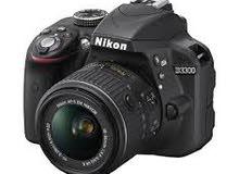 كاميرا نيكون دي 3300 شبه جديد