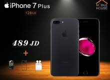 ايفون 7 بلس جديد مسكر 128 جيجا - كفالة apple + كفالة Mobile house
