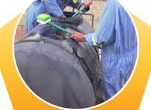 تنظيف خزانات عزل خزانات واسطح مكافحة حشرات
