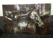 HORSE METAL SCRAPE ART