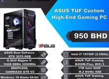 ASUS TUF Custom High-End Gaming PC – Intel I7 10700F – ASUS Dual GeForce