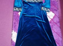 فستان مخمل +جاكيت جوخ