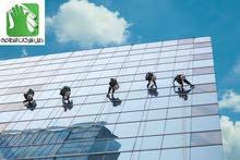 تنظيف واجهات الزجاج مجمعات تجارية فنادق وابراج بأسعار مناسبة للجميع