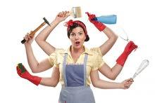 يوجد لدينا خادمات وعاملات منازل للعمل بنظام يومي اسبوعي شهري