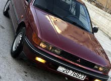 Maroon Mitsubishi Lancer 1991 for sale