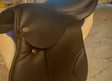 سرج انجليزي مميز جلد طبيعي eventing saddle+ لجام و كل الاغراض بالصور للبيع مع بع