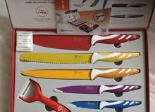 طقم سكاكين وطاستين سويسرى سيراميك للبيع