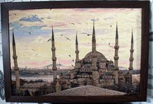 Embroidered cross stitch  Sultanahmet mosque ( Turkey, Istambul)