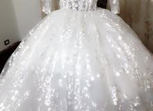 فستان زفاف مقاس (M,l)