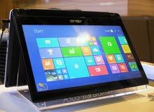 ASUS TP500L كور i3 جيل رابع تاتش اسكرين (بتعمل بالمس) شاشه بتلف 360 درجه بالكرتونه وجميع مشتملاته