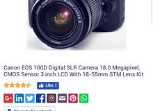 Canon 100D Tauchscreen  Camra  Full Hd videos  - very good camra