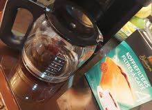 ماكينة قهوه نوع براون اصليه شغالة 100/100 مع باكيت فلاتر ورقيه