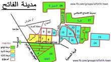 قطعة بشهادة بحث في مخطط طيبة مدينة الفاتح مربع 27 مكتمل الخدمات تاني ناصية