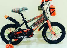 """New arrival cycle for kids size 14"""" with LED lights on the side tiers"""