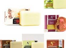 تشكيلة صابون منتجات طبيعية من البحر الميت تبييض وتفتيح وتقشير وازالة حب الشباب
