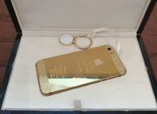 جوال ايفون S5 نسخة محدودة مطلي بالذهب عيار 24 ومرصع بكريستال