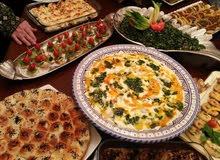 تواصي جميع انواع الطعام الحلويات والمقبلات والمأكولات العربيه