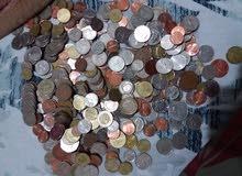 مجموعة من العملات النقديه من جميع أنحاء العالم قديمه وجديده للبيع لأعلي سعر