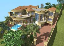 ارض للبيع في السلط جلعد مطلة على السد مساحة 4 دونمات و نص من المالك مباشرة