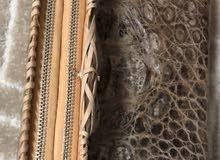 محفظة من جلد التمساح الطبيعي 100٪
